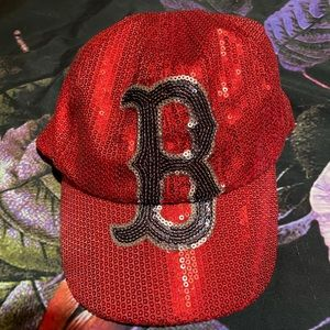 Boston red sox sequin hat